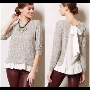 Anthropologie clu + willoughby sweater XS